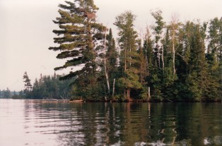 Bear Head Lake just north of the existing and proposed tailings basins in Hoyt Lakes