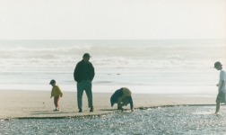 Family on Olympic Peninsula beach