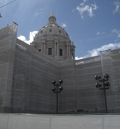 Capitol building repair, St Paul, Mn, 2014