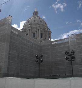Capitol building repair, St Paul, Mn, 2014