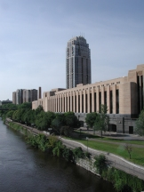 Minneapolis Post Office central on the Mississippi River